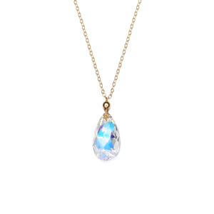 14K Gold Filled Handmade 1.6mmx450mm plateCablechain with 25x12mm Swarovski Crystal Oval Necklace[Firenze Jewelry] 피렌체주얼리